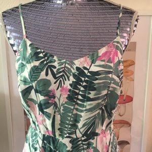 EUC Old Navy Pink & Green Tropical Sundress | M